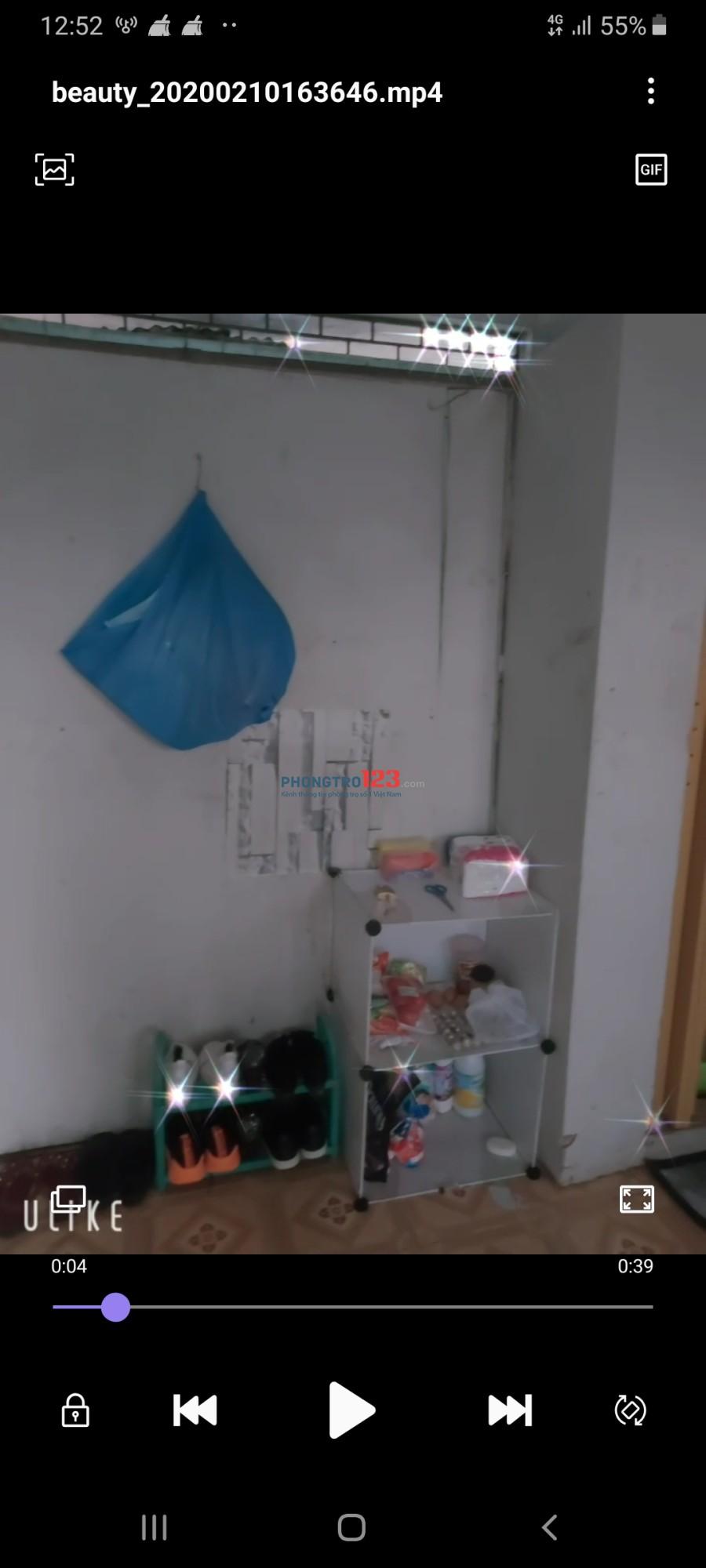 Nhượng lại phòng trọ quận Tân Phú 1tr100
