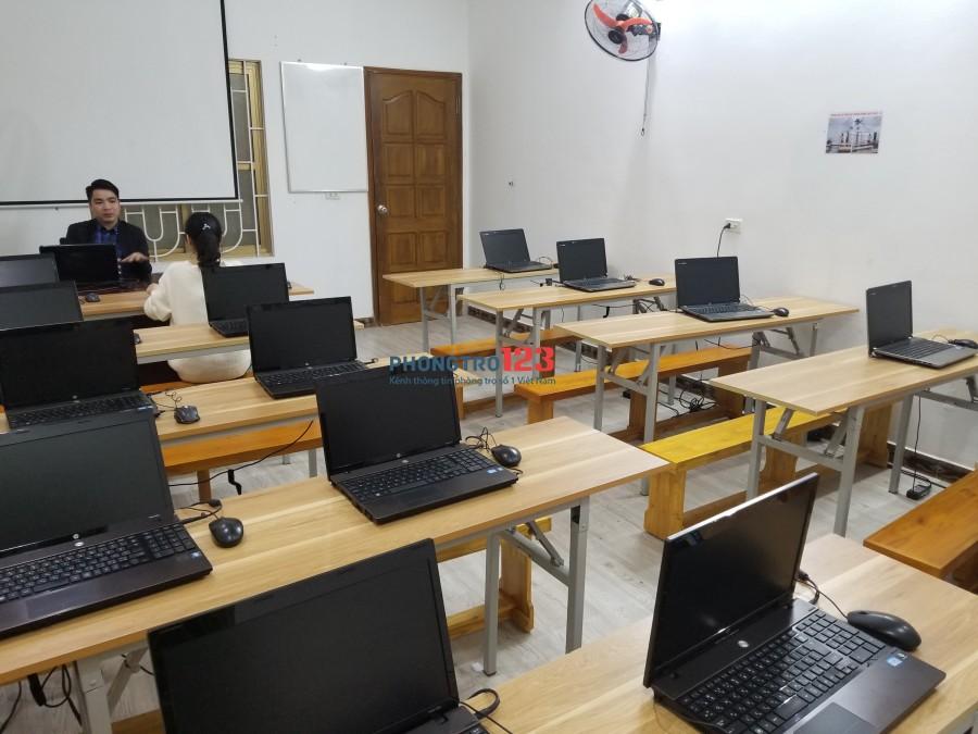 Cho thuê phòng dạy học mới xây mặt đường Quán Nam (gần 3 trường đại học)