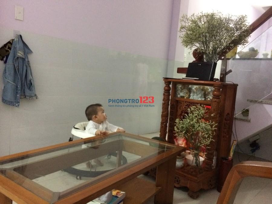 Chính chủ cho thuê nhà nguyên căn sát chợ- Phan Huy Ích - Tân Bình