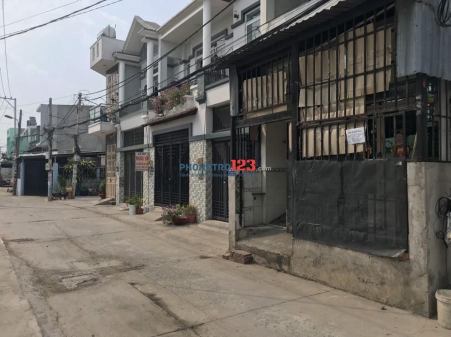 Cho thuê nhà 4x15 1 lầu hẻm xe tải số 881/3A QL1A, P.Bình Hưng Hòa A, Q.Bình Tân. Giá 6tr/th