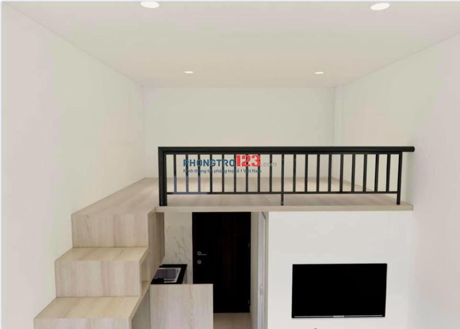 Cho thuê căn hộ mini có gác, full nội thất, có balcon và máy giặt riêng
