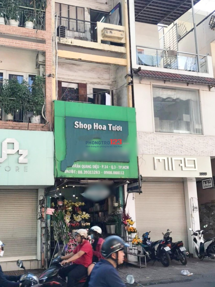 Chính chủ cần sang mặt bằng KD shop hoa mặt tiền Trần Quang Diệu, P.14, Q.3