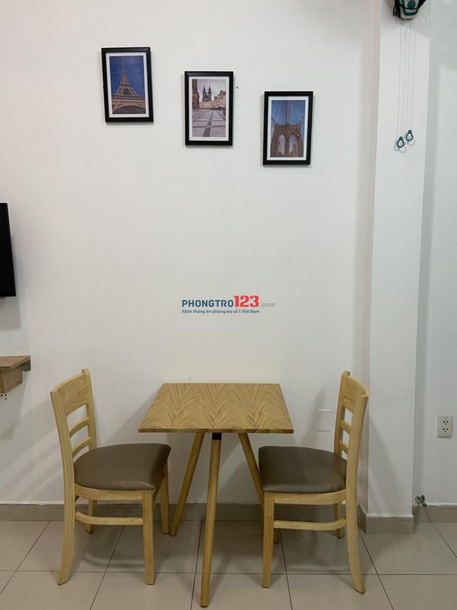 Cho thuê căn hộ mini gần đài truyền hình Quận 1, diện tích 30m2, có 1 phòng ngủ, nội thất đầy đủ, giá 6tr/tháng