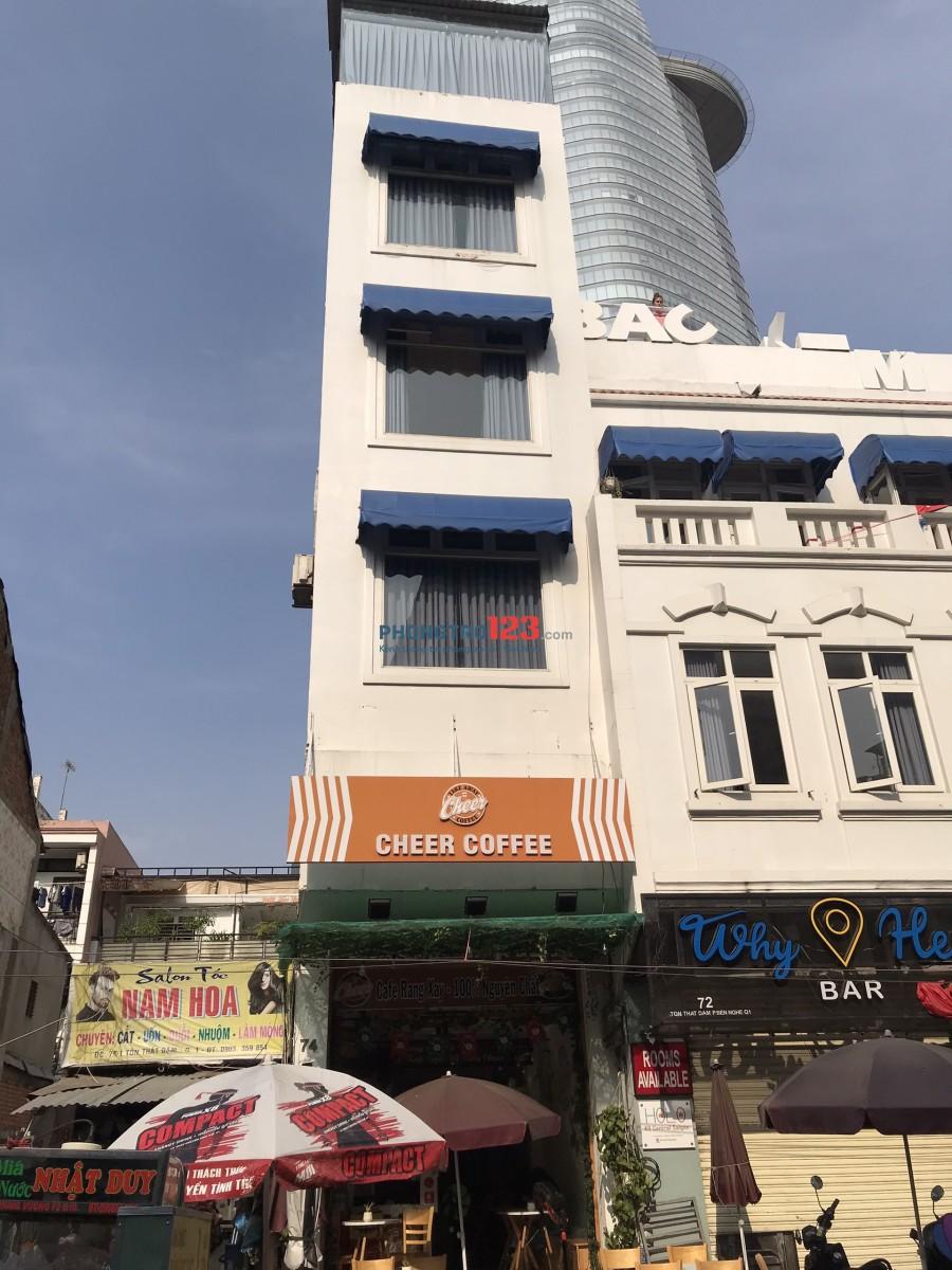 Cho thuê mặt bằng và tầng lửng tòa nhà mặt tiền 74 Tôn Thất Đạm, P.Bến Nghé, Q.1