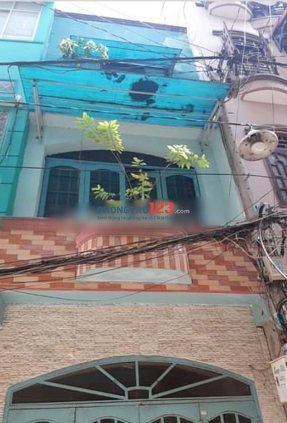 Nhà nguyên căn hẻm 5m 3x4 đúc 2 lầu 2pn gần chợ Bàn Cờ, đường Nguyễn Đình Chiểu, Q.3. Giá 7tr/th