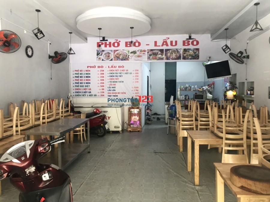 Hot Hot Sang mặt bằng KD Quán Phở 6x12 mặt tiền số 19 đường Phạm Thị Tánh, P.4, Q.8