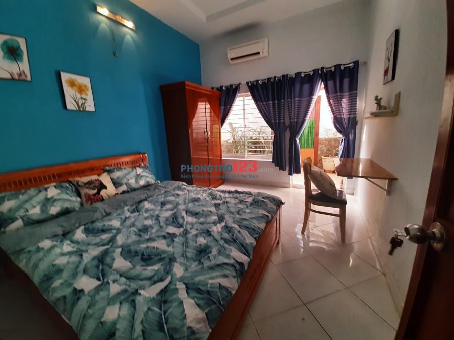 Cho thuê CHDV 2 phòng, 1wc Bình Thạnh, Full nội thất, chỉ 6triệu/2p, DT 80m2