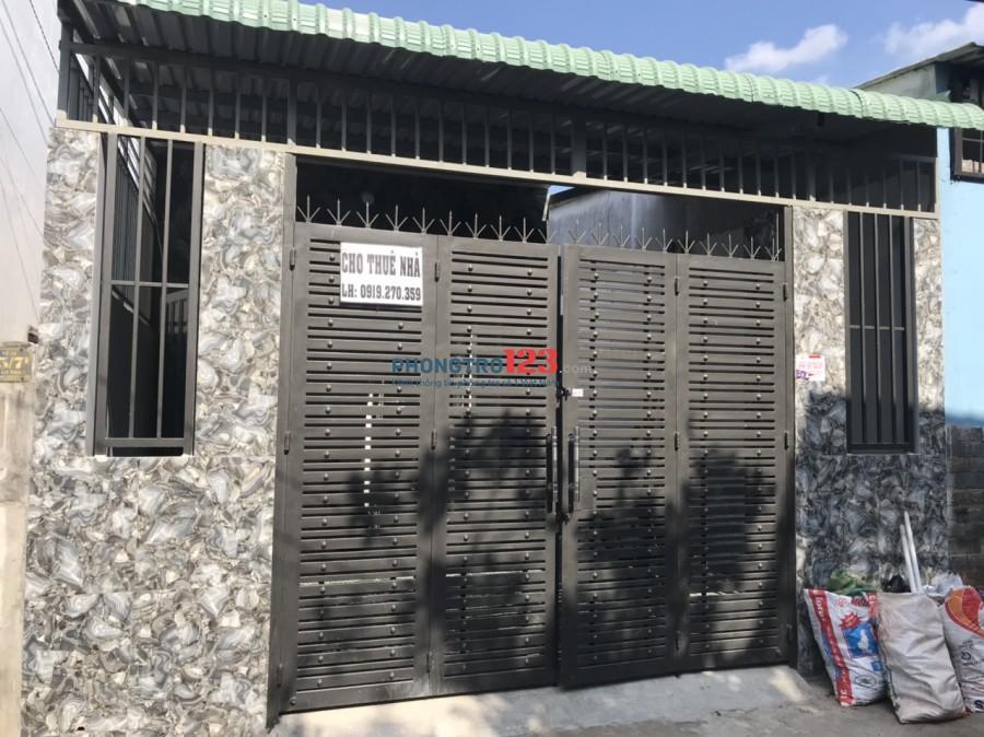 Cho thuê nhà mới nguyên căn 5x24 3pn hẻm xe hơi tại Trung Chánh, Hóc Môn. Giá 6tr/tháng