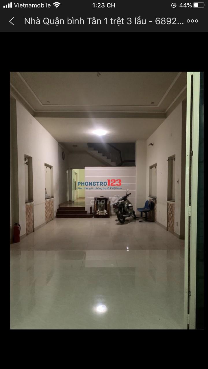 Cho thuê nhà nguyên căn 3 lầu 4pn mặt tiền Đường 28, P.Bình Trị Đông B, Q.Bình Tân gần Aeon