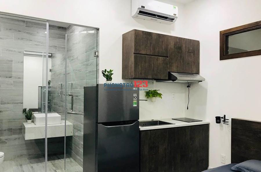 Phòng cao cấp, mới xây, máy giặt riêng, KM 50% cho thuê ngắn/dài hạn Nguyễn Văn Trỗi