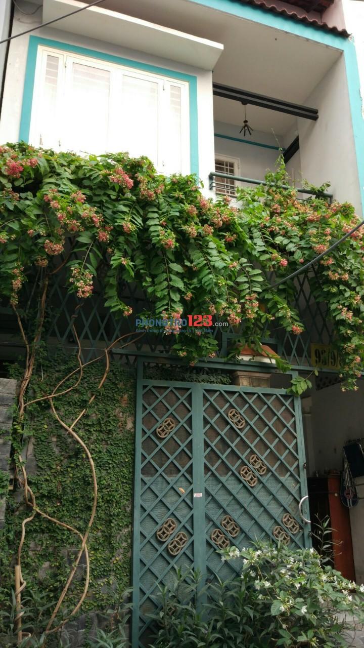 Cho thuê nhà hẻm 93 Bờ Bao Tân Thắng, cách Aeon Tân Phú 200m