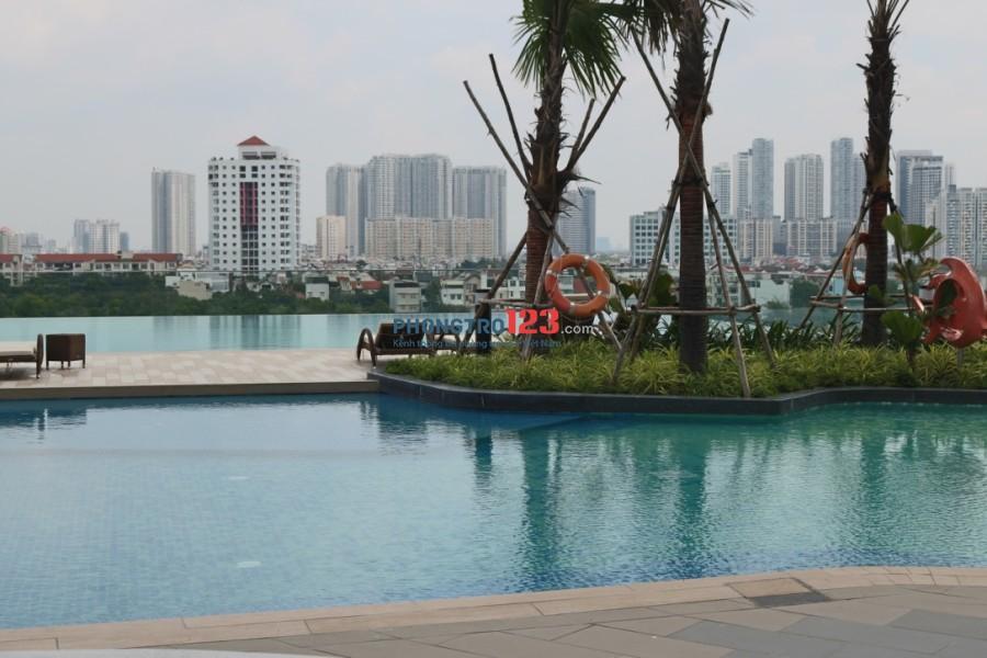 Cho thuê căn hộ mini 1PN có hồ bơi phòng Gym - thang máy trung tâm - thẻ từ