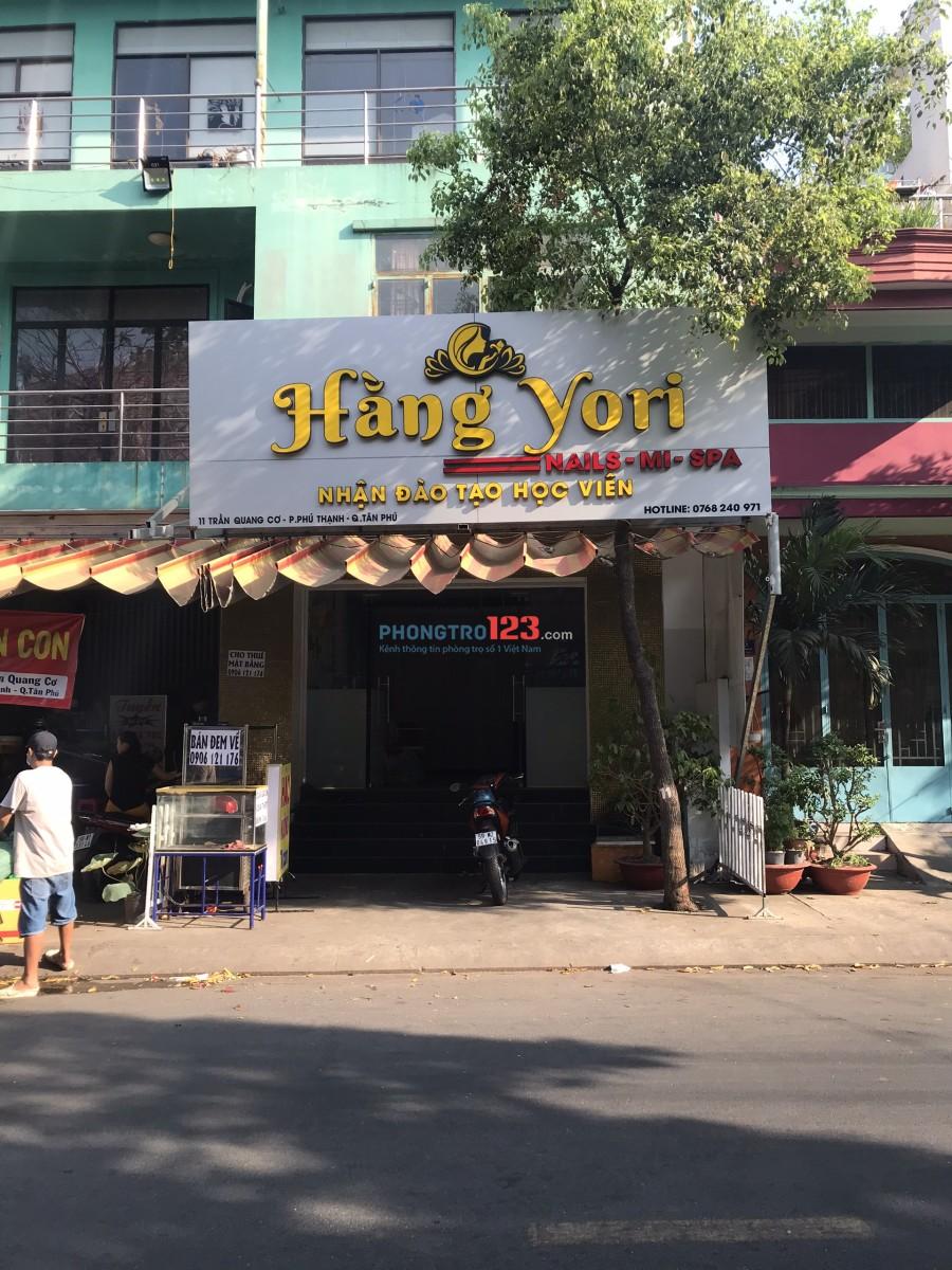 Cho thuê mặt bằng 4x16 mặt tiền 11 Trần Quang Cơ, P.Phú Thạnh, Q.Tân Phú. Giá 13tr/tháng