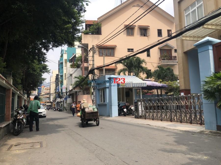Cho thuê gấp nhà nguyên căn hẻm xe tải 8m số 225 Nguyễn Đình Chiểu, P.5, Q.3. (4x17m) 4 Tầng