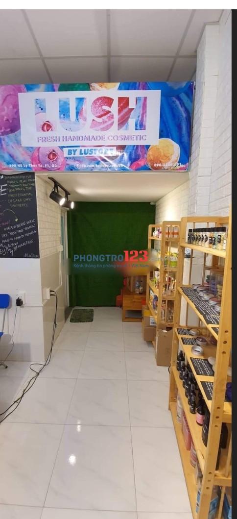 Cho thuê mặt bằng mới kinh doanh có gác ngay hẻm 290 Lý Thái Tổ, Q.3. Giá 7tr/tháng