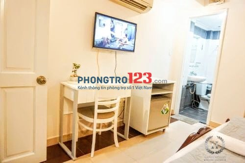 Căn hộ mini 25m2, đầy đủ tiện nghi, thang máy ngay Cô Giang, Q.1. Giá 4.2tr/tháng