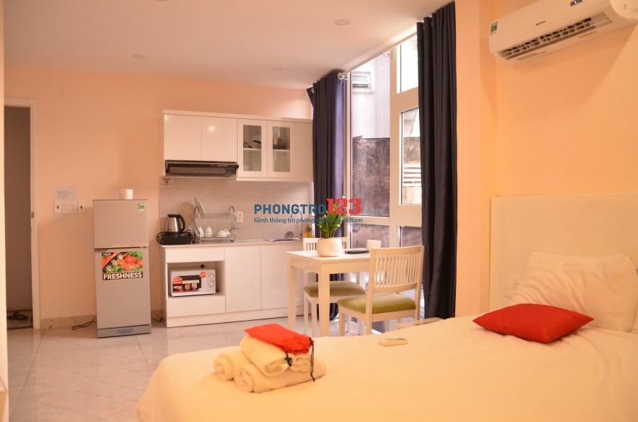 Cho thuê căn hộ mini q1-1PN full tiện nghi nội thất bếp cao cấp 35m2, giá chỉ từ 7tr500 Gần CV lê văn tám