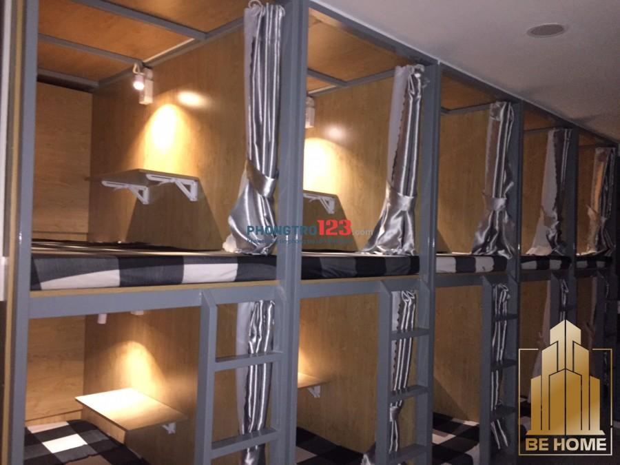 Sleepbox kiểu Hàn Quốc- không gian - tủ đồ riêng - wifi tẹt ga - bếp - máy lạnh - máy giặt- vân tay 24/7 -thang máy
