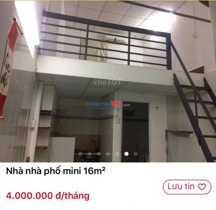 Cho thuê nhà trọ mini ở quận Phú Nhuận