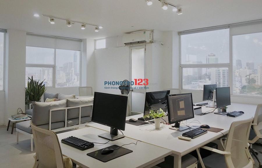 Cho thuê văn phòng 74m2 mặt tiền Tòa Nhà 167 - 169 Điện Biên Phủ, P.Đa Kao, Q.1