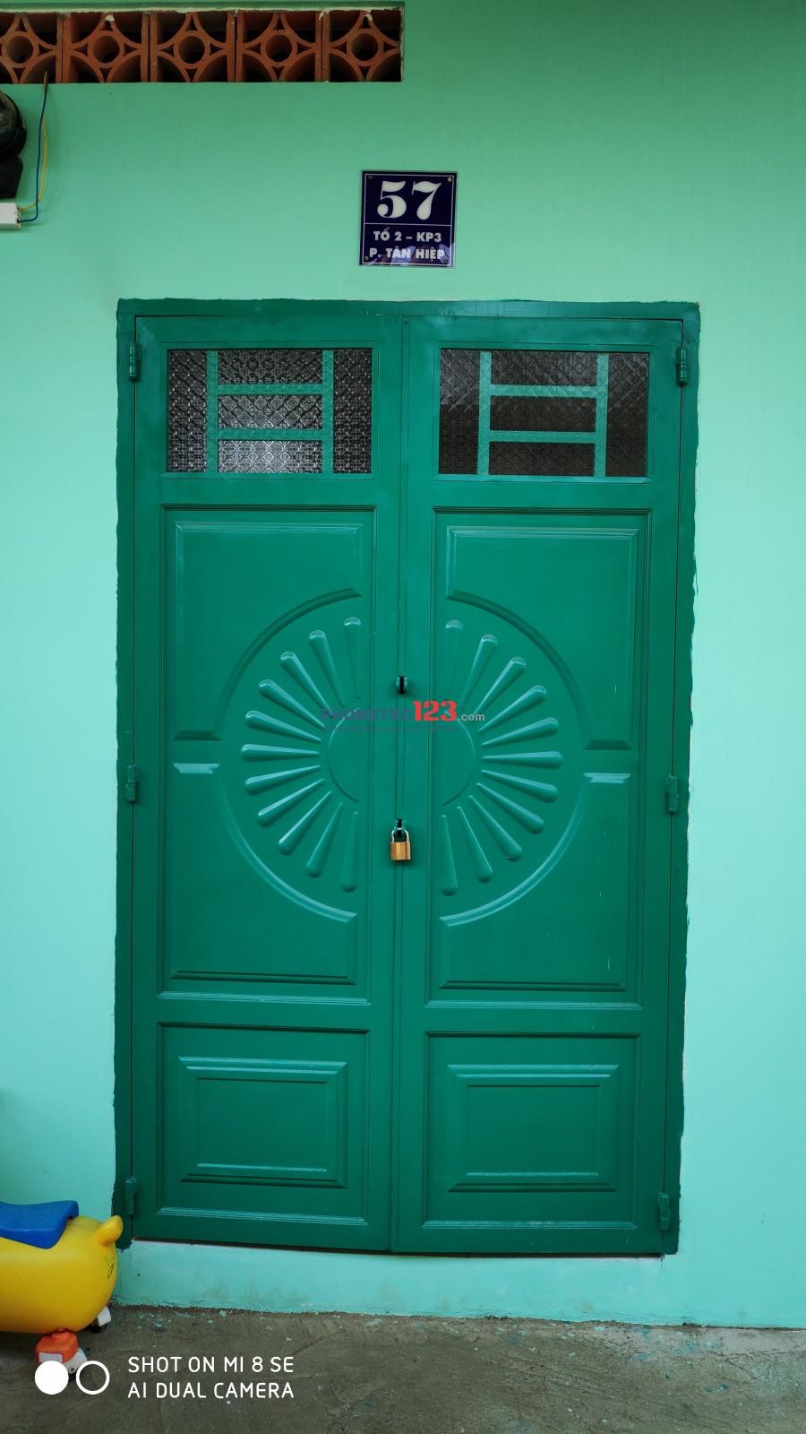 Cho thuê phòng trọ rộng rãi, yên tĩnh, gần ủy ban P.Tân Hiệp