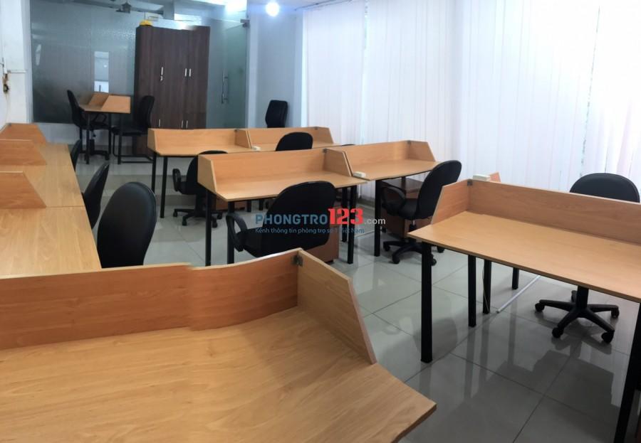 Cho thuê văn phòng 80m2 đầy đủ trang thiết bị nhà mặt tiền số 8 Trần Phú, P.4, Q.5. Giá 12tr/th
