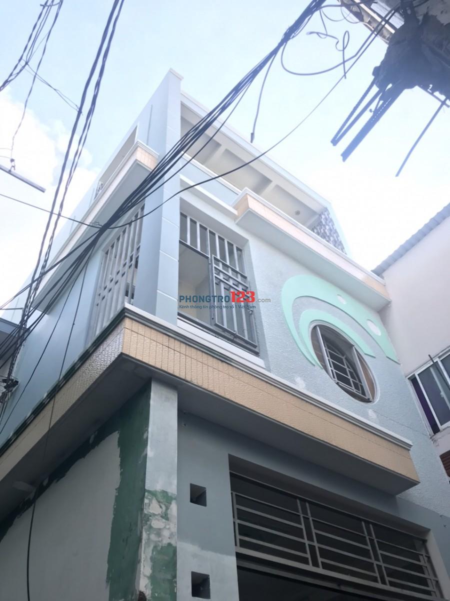 Cho thuê nhà mới nguyên căn 1 trệt 2 lầu 4,4x16m có 4pn tại hẻm 687 Lạc Long Quân, Q.Tân Bình