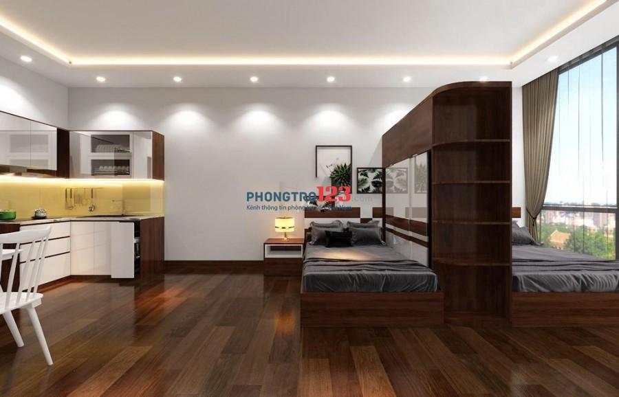 Cho thuê căn hộ dịch vụ mới 100%, Full nội thất nhà mặt tiền 164 Ung Văn Khiêm, Q.Bình Thạnh