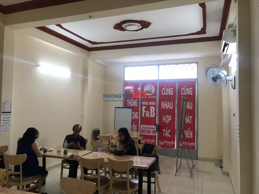 Cho thuê mặt bằng tầng 1 4,5x15,5 nhà mặt tiền 45 Nguyễn Thái Bình P4 Q Tân Bình giá 11tr/th