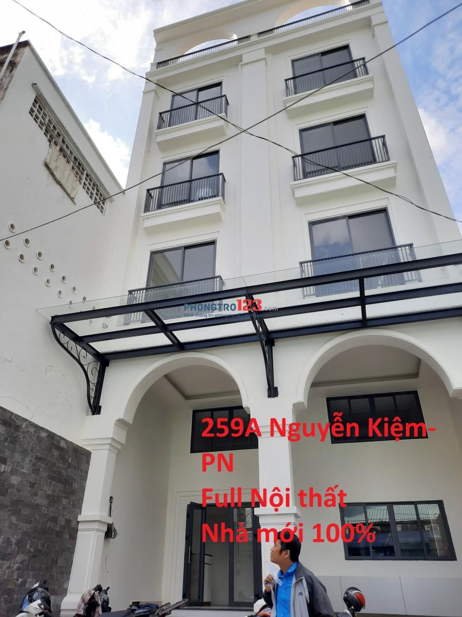 Căn hộ mới 100%, 45m2, 1PN và 3PN, Bếp, Nội thất đầy đủ, Yên Tĩnh, Phú Nhuận