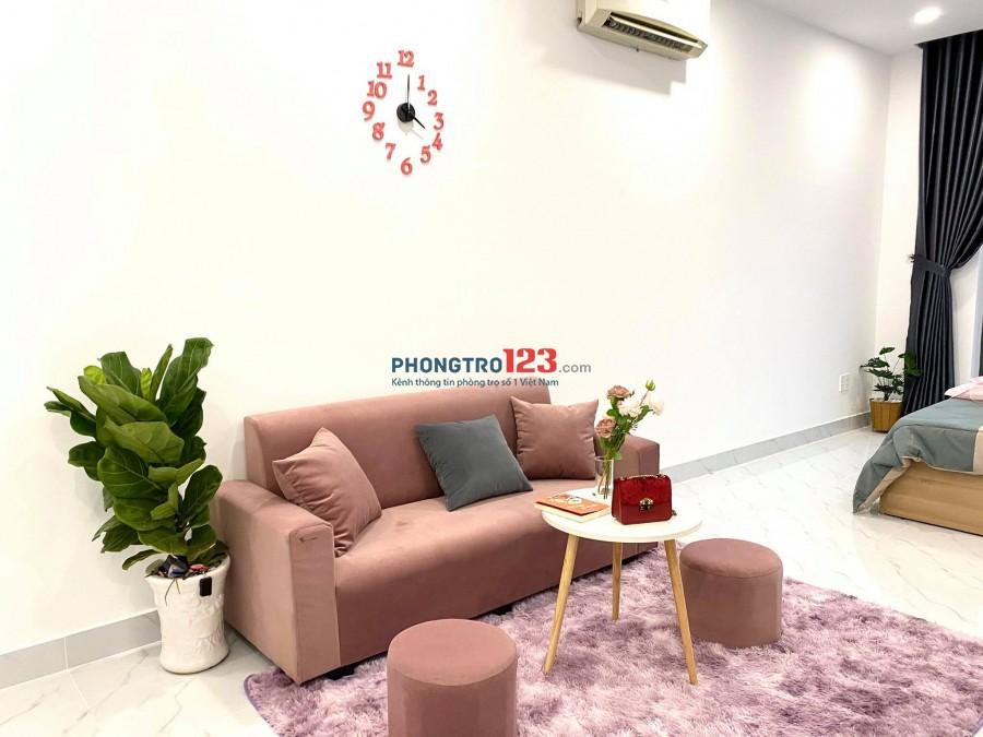 Căn hộ Studio Hoàng Hoa Thám Bình Thạnh có bếp, ban công, mới 100%