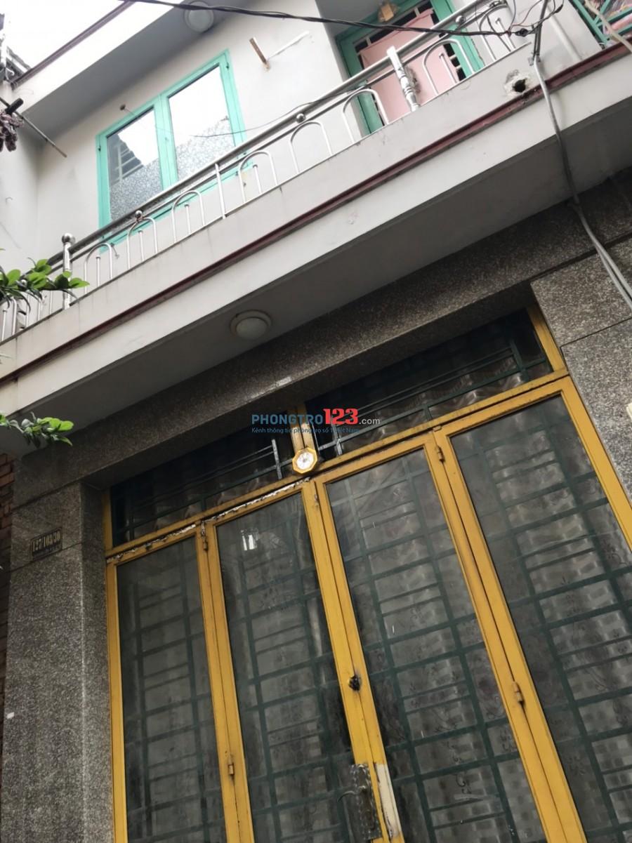 Cho thuê nhà nguyên căn 4x8 1 lầu hẻm xe hơi tại Ni Sư Huỳnh Liên P10 Q Tân Bình giá 7tr/th