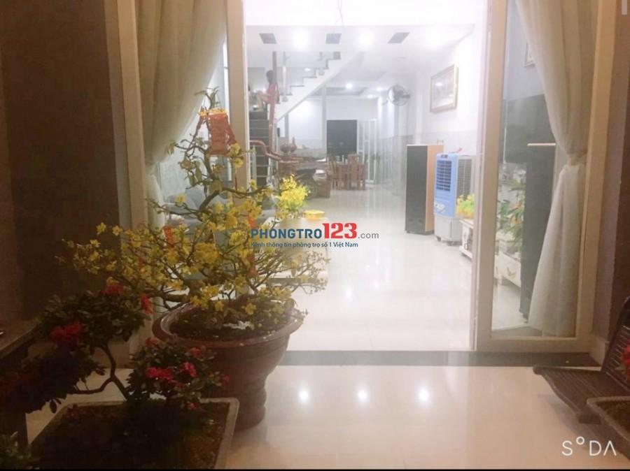 Cho thuê nhà mới nguyên căn 4x25 1 lầu hẻm 6m gần Chợ Đông Thạnh Hóc Môn giá 10tr/tháng