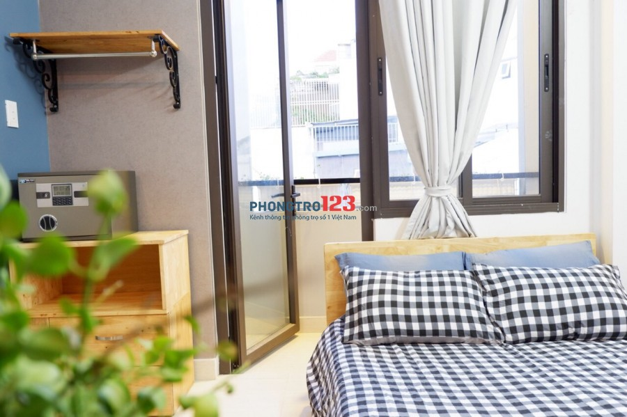 Phòng q1 full tiện nghi dt từ 20-35 m2 bảo vệ 24/24 thang máy, hầm xe giá chỉ từ 4tr00 đến 7tr5