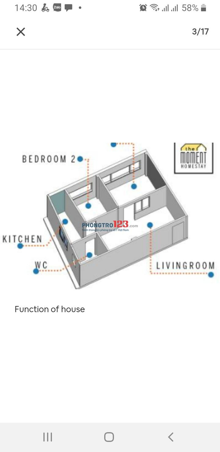 Cho thuê căn hộ Chung cư Đường Ngô Quyền Quận 5. Diện tích 50m2 có 2 phòng ngủ