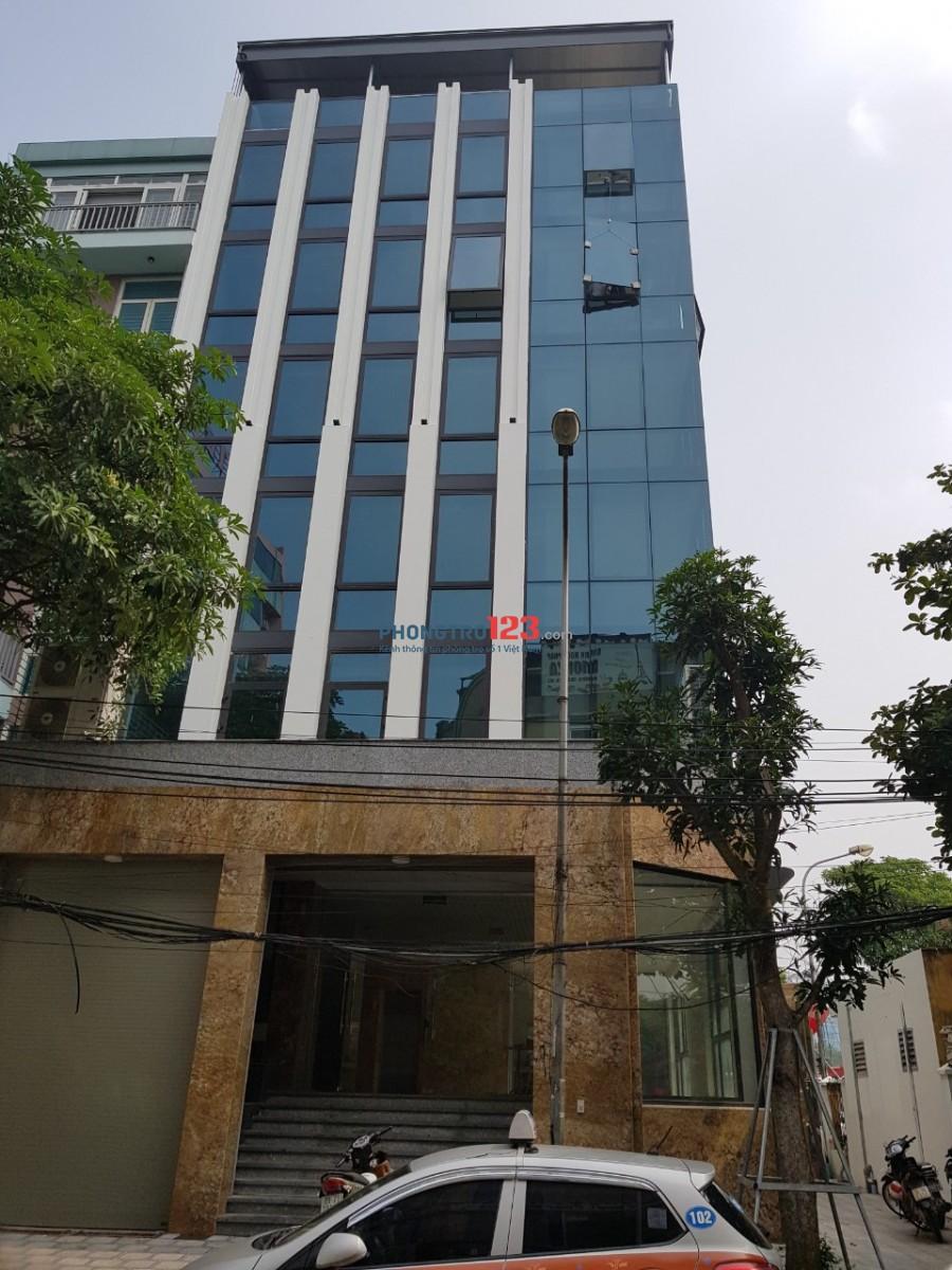 Cho thuê nhà mặt phố Trung Hòa, Trung Kính, Cầu Giấy. DT 140m2 * 6T, MT 6m, có thang máy 80 tr/th