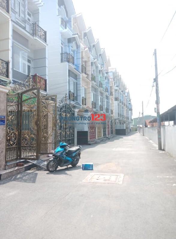 Cho thuê nhà mới nguyên căn 3 lầu 4pn hẻm xe tải tại An Dương Vương, P.16, Q.8. Giá 13tr/th