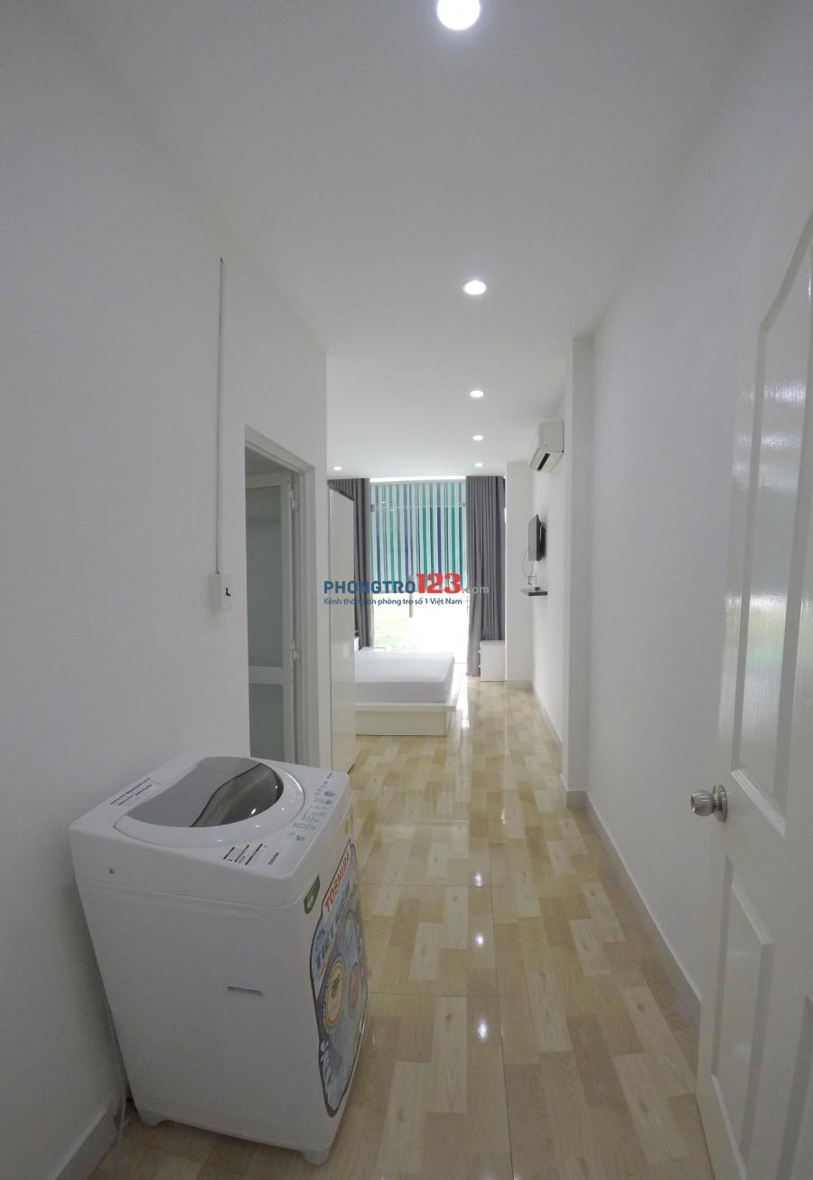 Cho thuê căn hộ 1pn 50m2 (có phòng khách + bếp và phòng ngủ tách biệt) khu sân bay, bảo vệ 24/24.