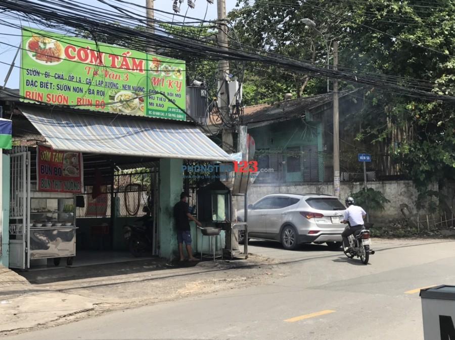 Cho thuê hoặc sang mặt bằng kinh doanh ngay góc 2 mặt tiền 50 Nam Cao, P.Tân Phú, Q.9