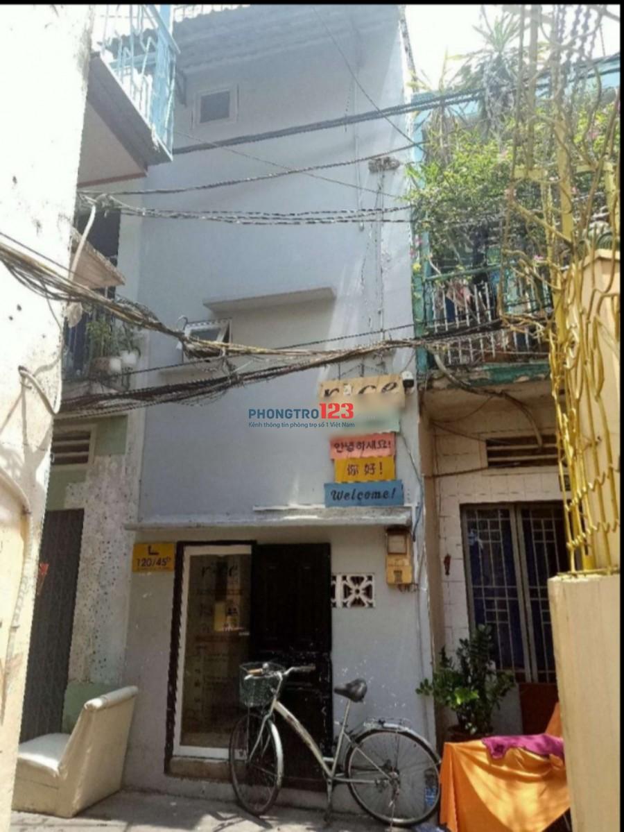 Cho thuê nhà nguyên căn 1 trệt 2 lầu tại 120/45D Trần Hưng Đạo Q1 giá 12tr/tháng