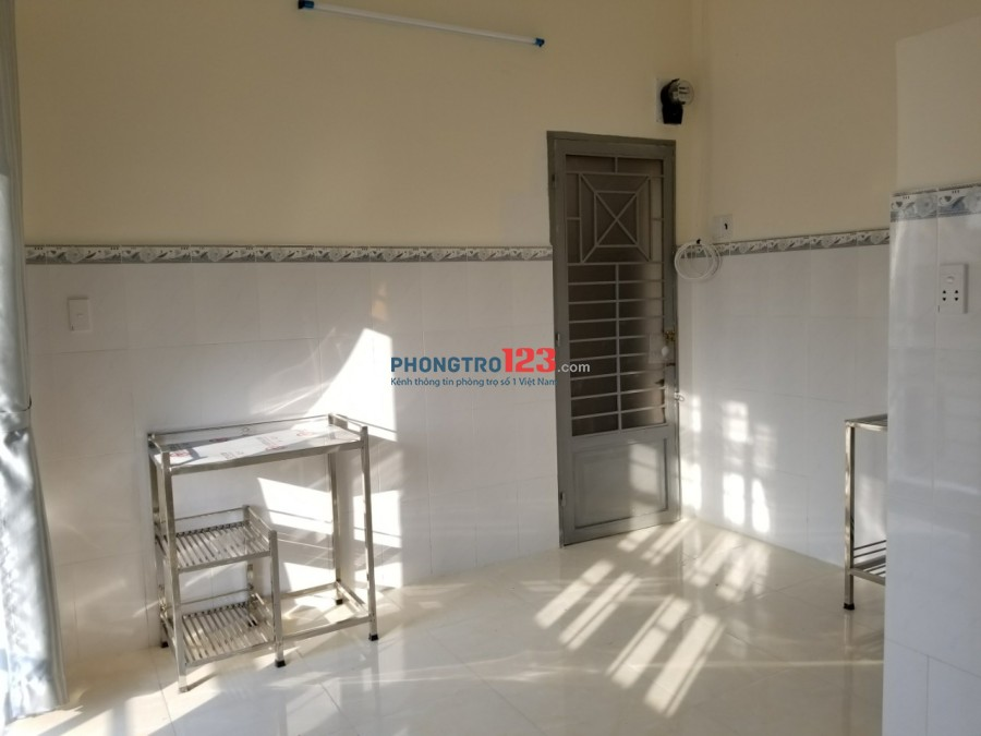 Phòng 18m2-2,3tr có máy lạnh, wc riêng mới 100%, ngay nhà thờ Tân Hưng Q.Gò Vấp