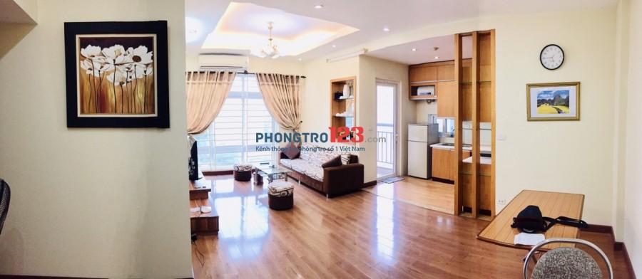 Cho thuê căn hộ tòa N02 tại KĐT Làng Quốc Tế Thăng Long full đồ đẹp