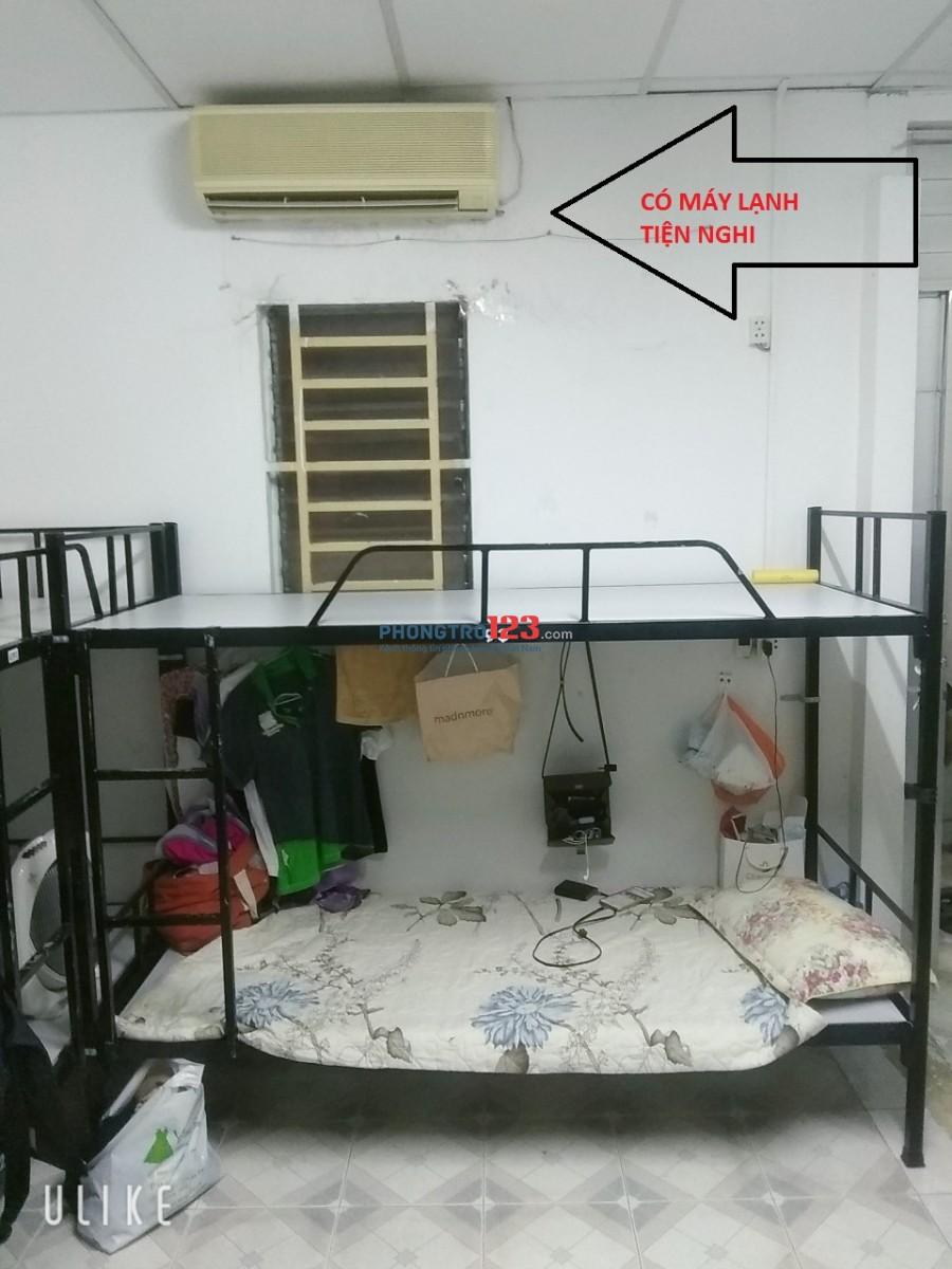 Phòng có máy lạnh - Kí Túc Xá cao cấp - Quận 10- Giá sinh viên cho mọi người