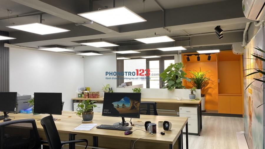 Cho thuê mặt bằng văn phòng 175m2 có sẵn nội thất mới Nhà mặt tiền 23 - 25 Trần Nhật Duật Q1