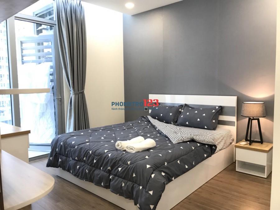 Căn hộ 1 phòng ngủ đầy đủ nội thất tại Vinhomes Central Park