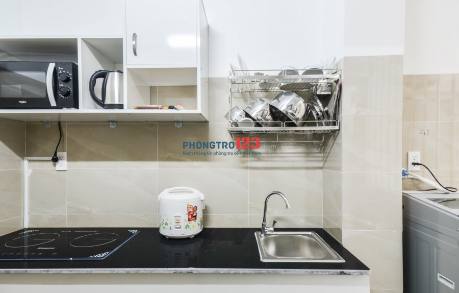 Cho thuê căn hộ dịch vụ, có gác- 1PN riêng tiện nghi- xách vali vào ở ngay!