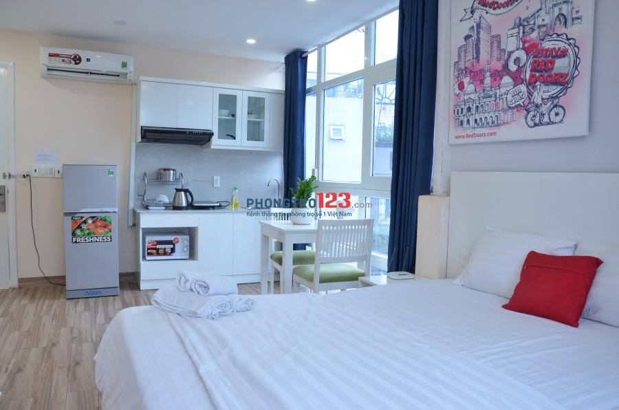 Cho thuê căn hộ 35m2, full tiện nghi tủ bếp cao cấp gần chợ Tân Định, Hai Bà Trưng Võ Thị Sáu