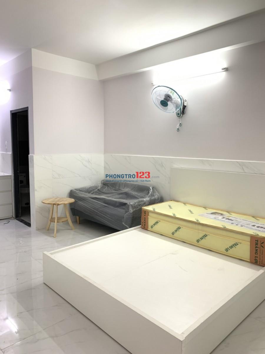 Cho thuê căn hộ mini mới 100%, tiện nghi, ban công thoáng mát