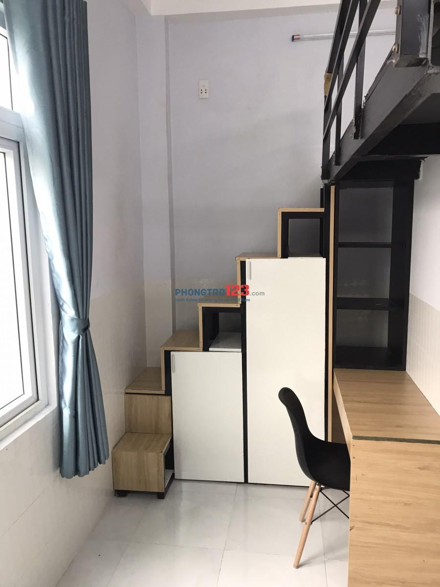 Căn hộ mini cho thuê có trang bị nội thất cơ bản, không chung chủ. Phòng đẹp như hình