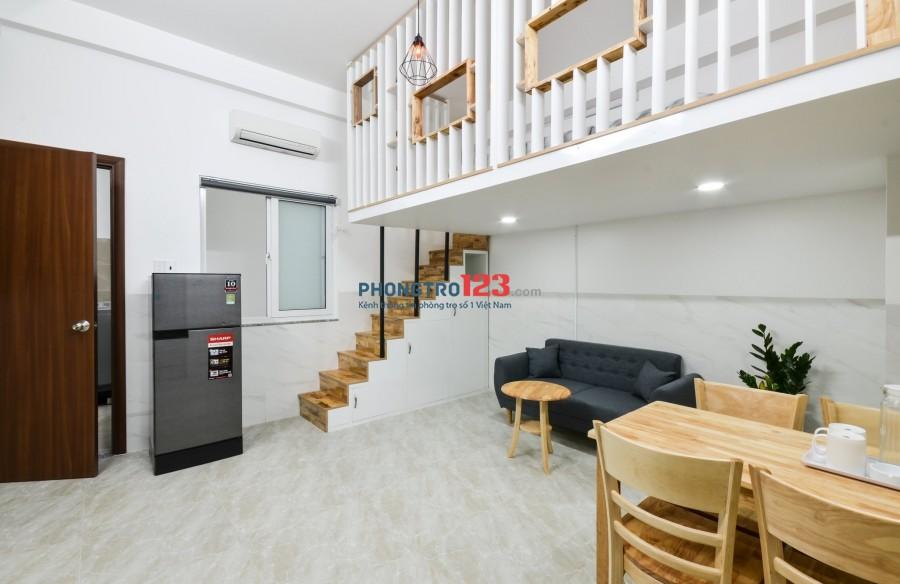 Cho thuê căn hộ mini có gác, tiện nghi, 35m2 đường Nhất Chi Mai